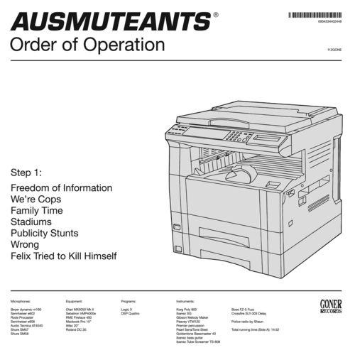 AUSMUTEANTS... - ORDER OF OPERATION...